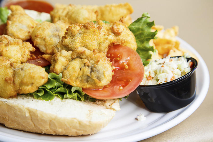 Oyster Po'boy at Bevi Seafood Co.