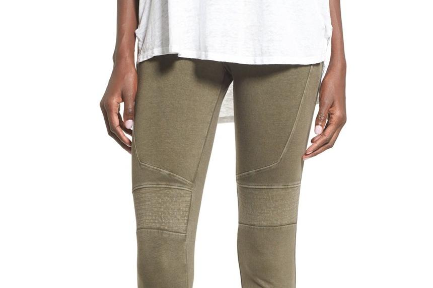 Thanksgiving Pants Stretch Cotton Moto Leggings