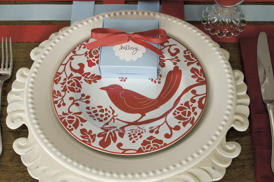 Christmas Table Setting Ruby Red Christmas Table