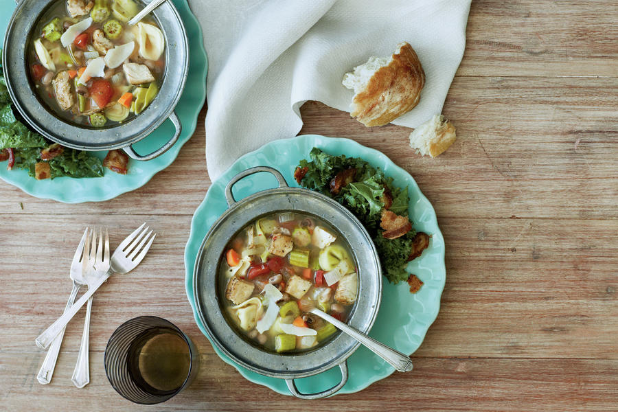 Super-Easy Soup & Salad Holiday Dinner Recipe