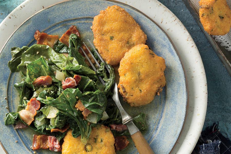 Robby Melvin's Turnip Greens with Hot Water Cornbread