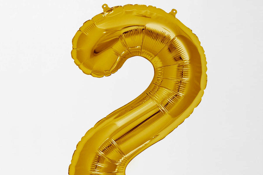 Gold Number Party Balloon