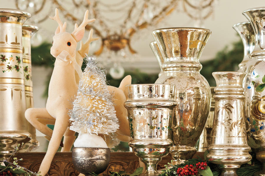 Tips for Buying Mercury Glass  Vintage Christmas  ~ 164652_Christmas Decorating Ideas With Glass Vases