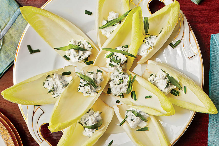 Appetizer Stuffed Endive with Herbed Goat Cheese