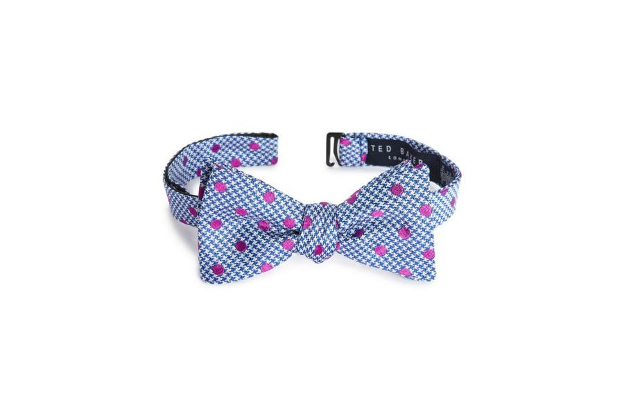 Kentucky Derby Bow Tie Houndstooth Silk Bow Tie