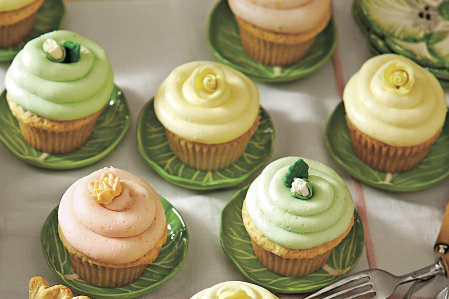 Best Lemon Recipes Lemon Sherbet Cupcakes with Buttercream Frosting