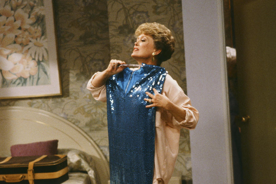 Dorothy Golden Girls blanche dress