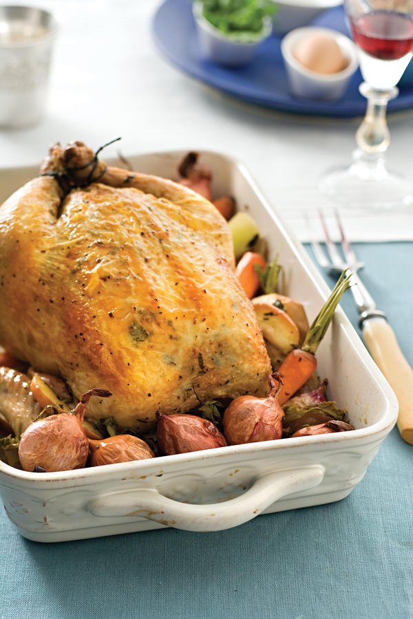 Garlic-Herb Roasted Chicken - Traditional Easter Dinner Recipes ...