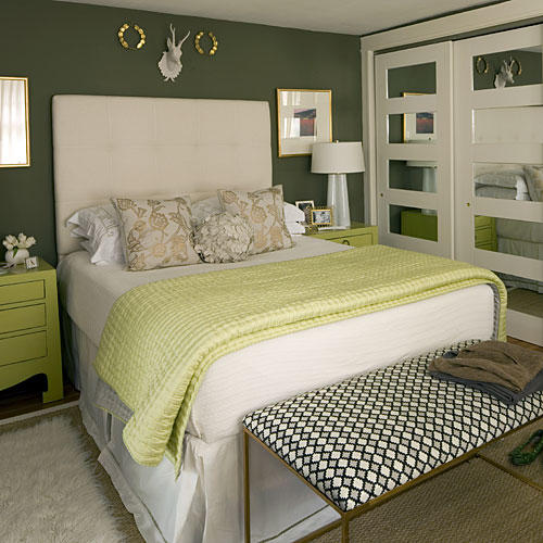 fresh green - Green Bedroom Decorating Ideas