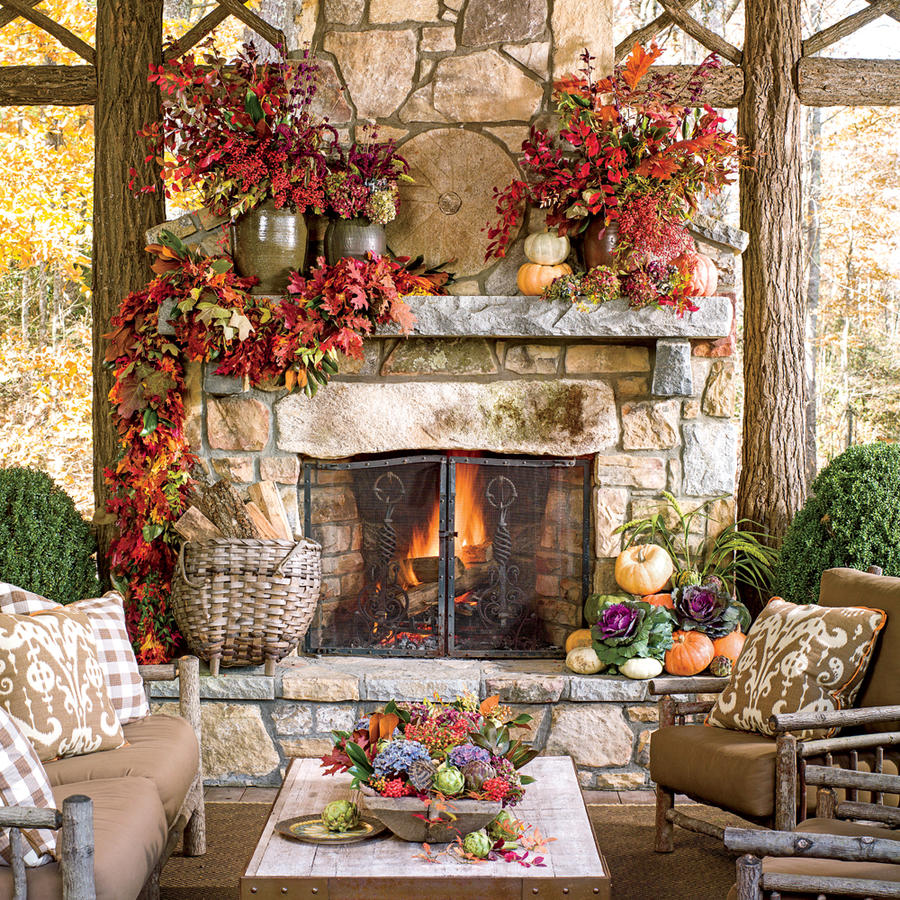 Backyard Fireplace Designs image of outdoor fireplace designs stone A Touch Of Fall