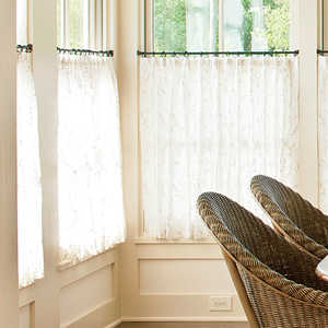 Charming How To Hang Café Curtains