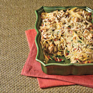 Rotisserie Chicken Recipes: Chicken Tetrazzini With Prosciutto and Peas