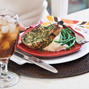 Pork Chops with Herb-Mustard Butter