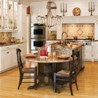 Two level island stylish kitchen island ideas southern for Two level kitchen island