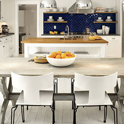 Subtle nautical themed beach kitchen beach inspired kitchen ideas southern living - Nautical kitchen ...