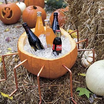 scary spider coolers kid friendly halloween party southern living. Black Bedroom Furniture Sets. Home Design Ideas