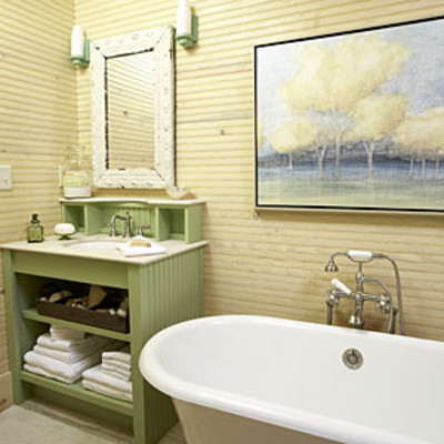 Embrace vintage style for Calming bathroom ideas