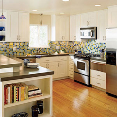Fresh colorful kitchen for Southern kitchen design