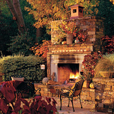 Outdoor rooms and outdoor fireplaces fall 39 s best outdoor for Best garden rooms