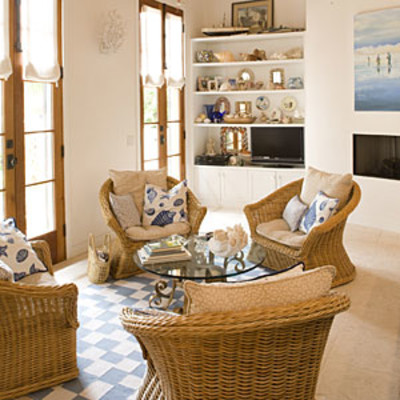 nautical themed living room beach living room decorating ideas southern living. Black Bedroom Furniture Sets. Home Design Ideas