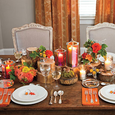 home garden decorating fall ideas candlelight dinner