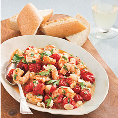Easy, Healthy Seafood Recipes: Roasted Tomato-and-Feta Shrimp - 26 Quick-Fix Seafood Suppers ...