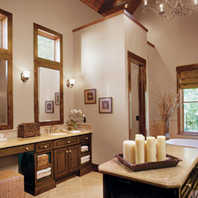 Big and beautiful master bath luxurious master bathroom for Pretty bathroom decorating ideas