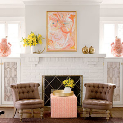 Focal point fireplace 25 cozy ideas for fireplace for 1920s living room ideas