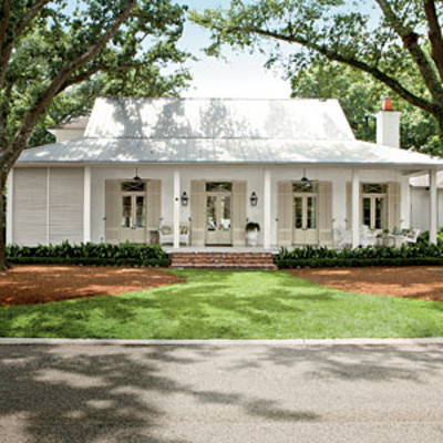 Classic southern paint colors southern living for Metal homes louisiana