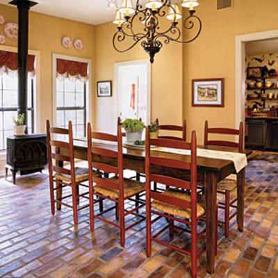Dining room decorating ideas set the tone with flooring for Kitchen dining area decorating ideas