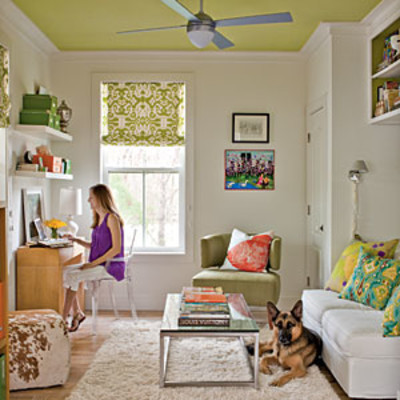 Decorate with green green decorating ideas southern living Living room corner decor
