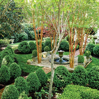The boxwood parterre all green garden design southern for Southern living landscape design