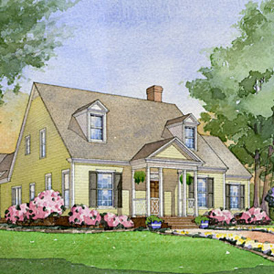 House plans transformed see it built southern living for Southern living house plans with keeping rooms
