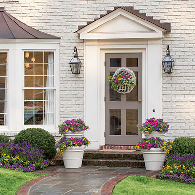 Plant these bright garden ideas southern living Container plant ideas front door