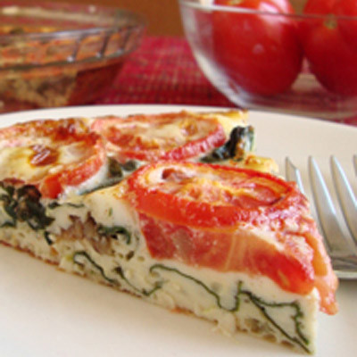 Crustless swiss chard tomato quiche 68 ways with farm for Decoration quiche