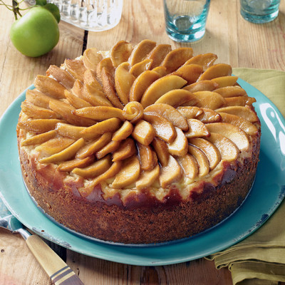 Caramel apple cheesecake recipe tempting apple dessert for Best ever apple cake country living