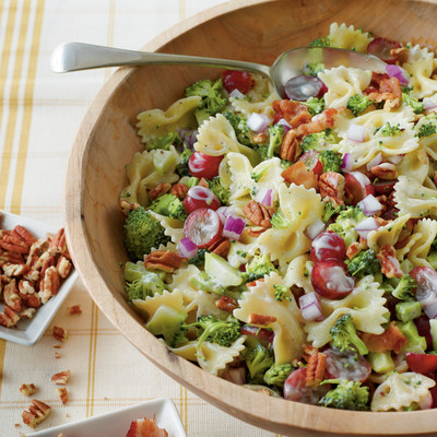 Broccoli, Grape, and Pasta Salad Recipe - Easy Pasta Salad Recipes ...