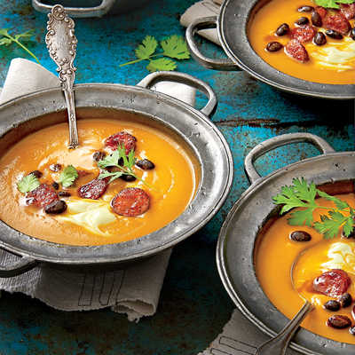 Spicy Pumpkin Soup with Avocado Cream - Our Best Pumpkin Recipes ...