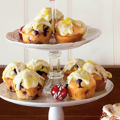 Christmas Brunch Recipes: Blueberry Muffins with Lemon-Cream Cheese ...