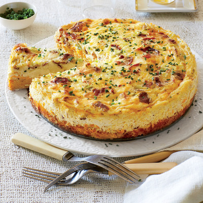 Bacon-and-Cheddar Grits Quiche - Thanksgiving Brunch Recipes ...