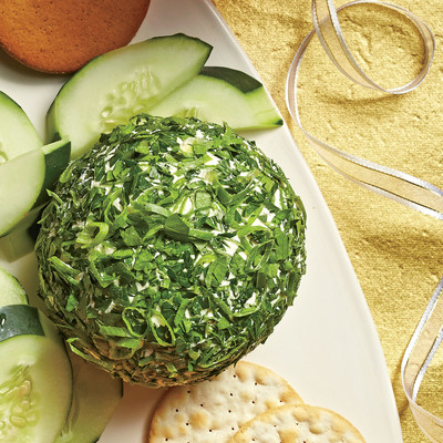 Feta-Olive-Fresh Herb Cheese Ball - December 2015 Recipes - Southern ...