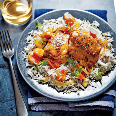 Honey-Apricot-Glazed Chicken - January 2016 Recipes - Southern Living
