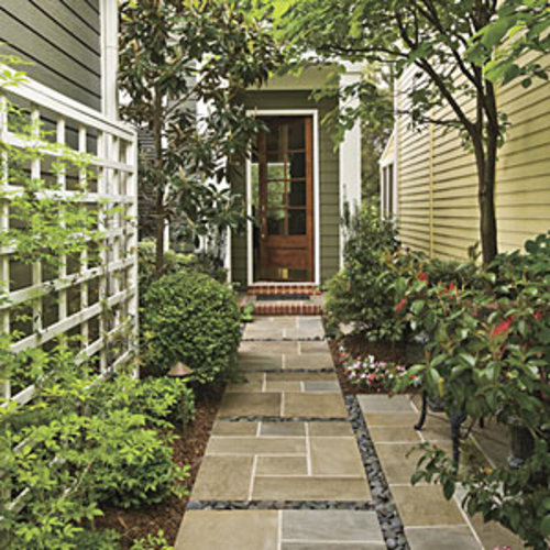 Narrow Entryway Landscaping : Small space curb appeal southern living