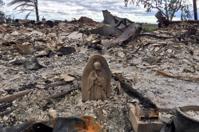 Virgin Mary Statue Survives Electrical Fire That Ravaged Family's Home During Hurricane Harvey