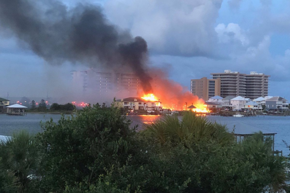Large Condo Fire Breaks Out in Perdido Key Beach, Florida