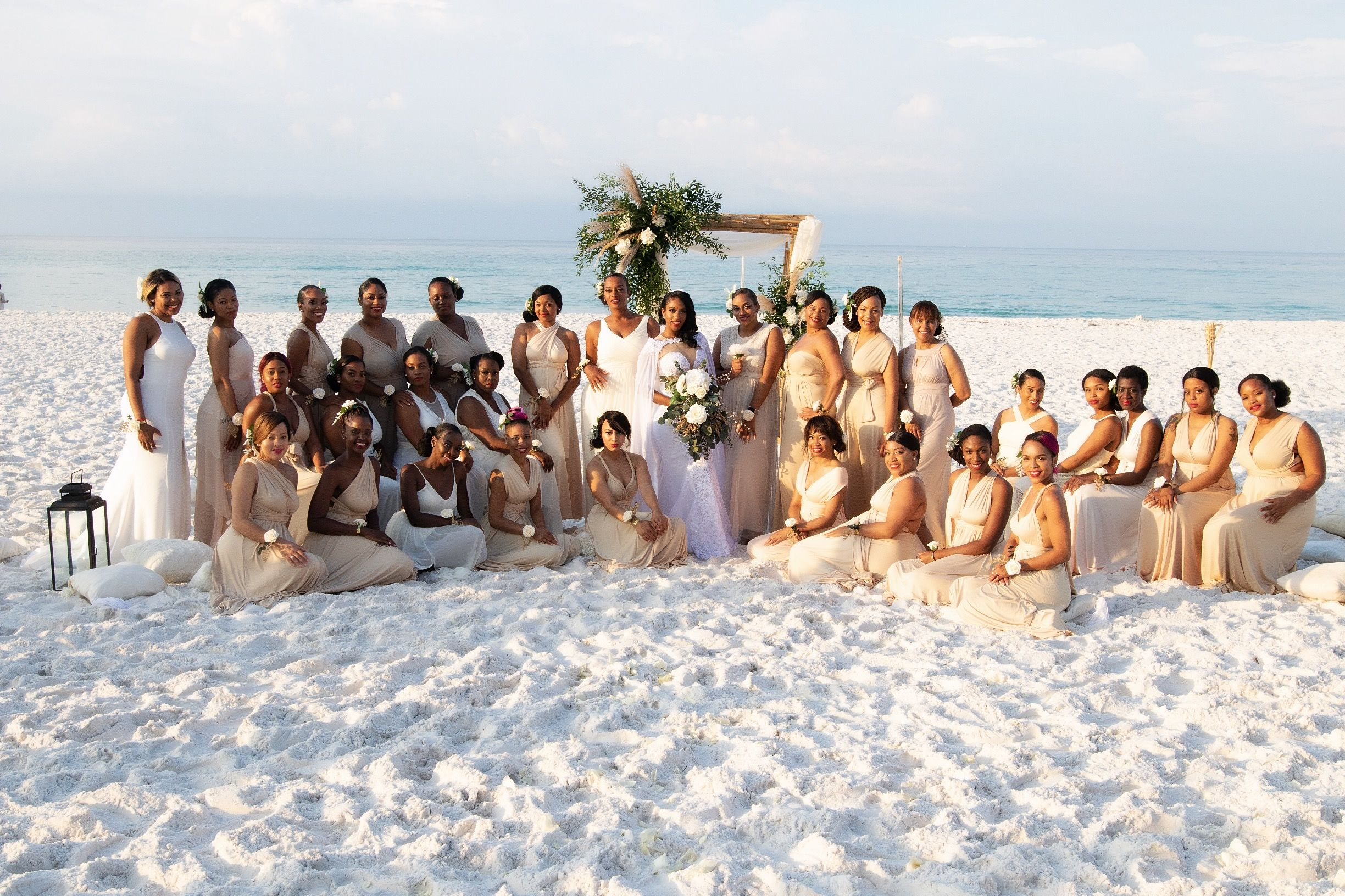 Bride with 34 Bridesmaids Originally Planned for 50
