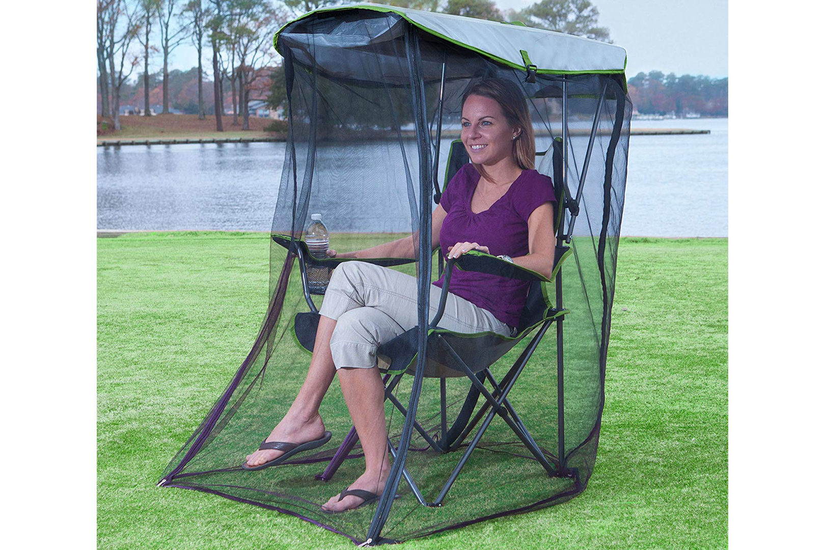 This Foldable Canopy Chair with Bug Netting Just Changed Summertime Sitting for Good