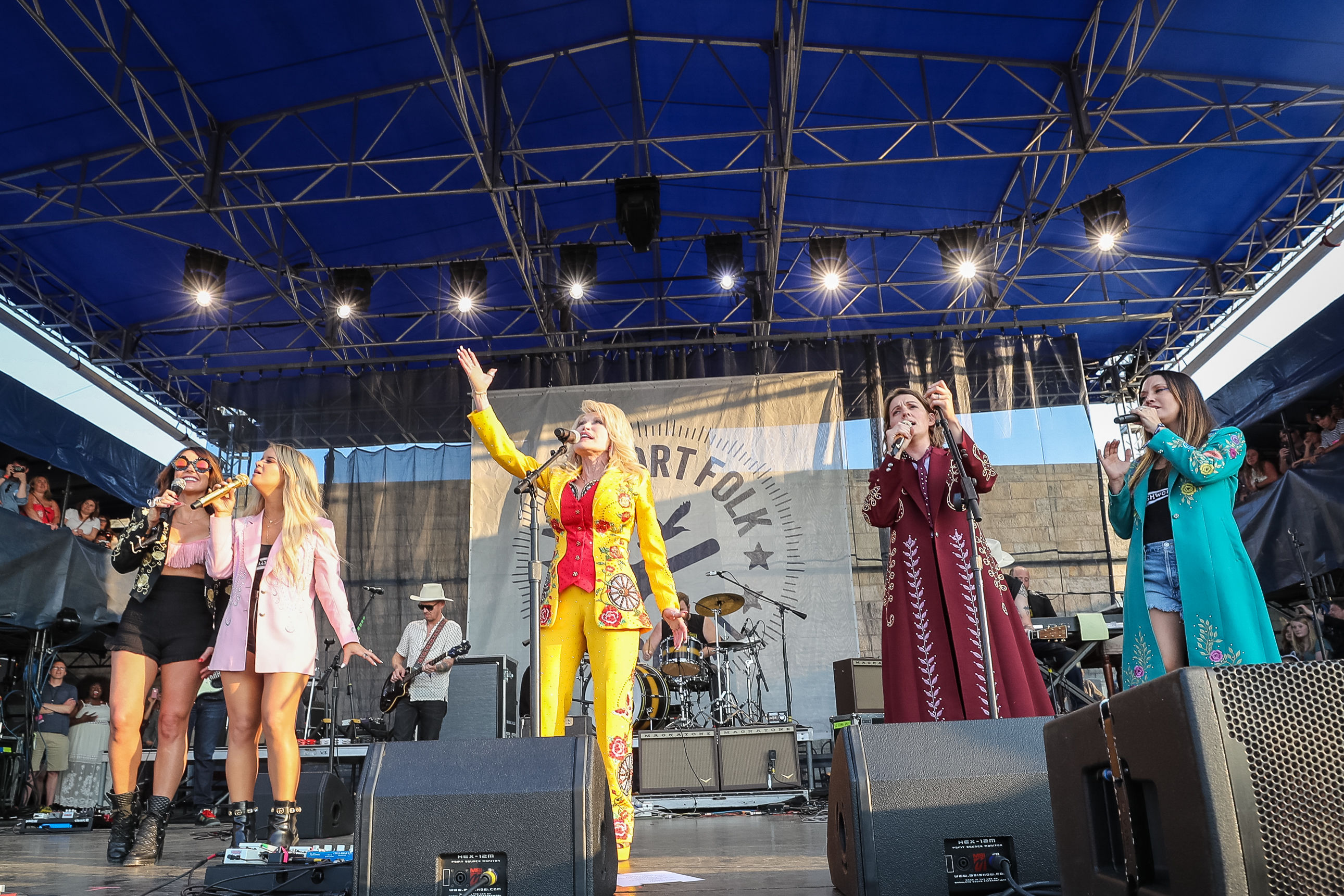 Dolly Parton Makes Surprise Appearance with The Highwomen at Newport Folk Festival