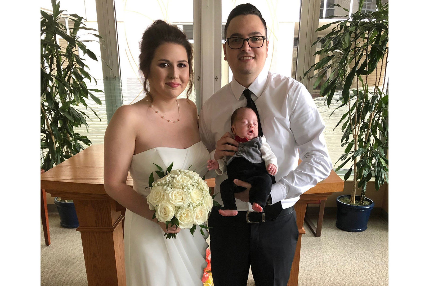 Mom Carries Her Premature Baby Instead of a Bouquet in Emotional Hospital Wedding