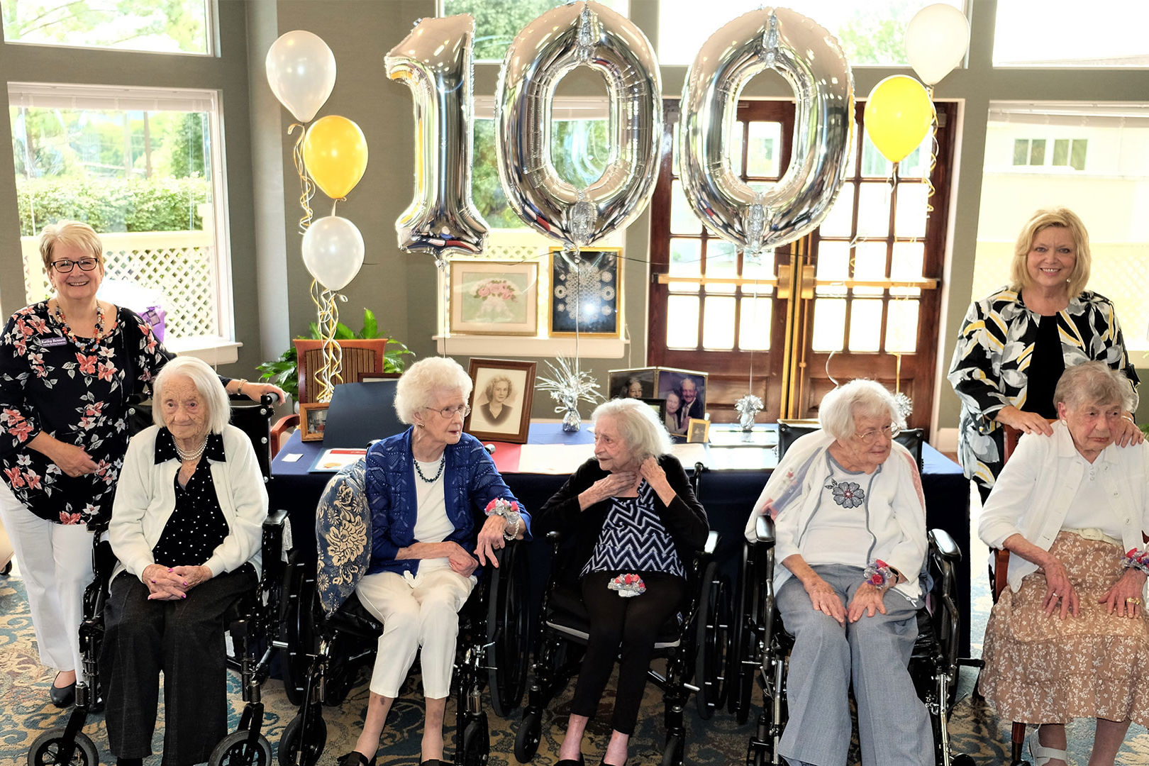 Nashville Senior Living Center Throws Party for 6 Residents Celebrating Their 100+ Birthdays